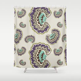 Fanned Feather Pattern - Original Shower Curtain