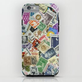 Vintage Postage Stamp Collection - 01 iPhone Case