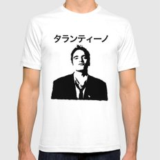 QUENTIN TARANTINO Mens Fitted Tee SMALL White