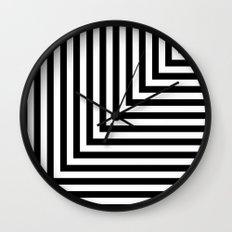 Black and White L Stripes // www.pencilmeinstationery.com Wall Clock