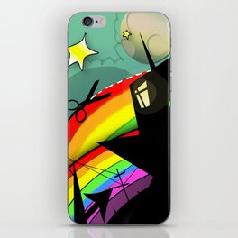 Rainbow Cut iPhone Skin