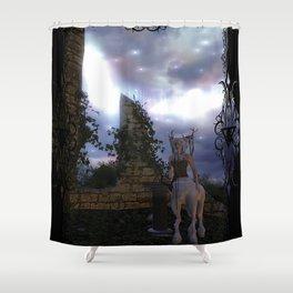 Zemija's Oracle Shower Curtain