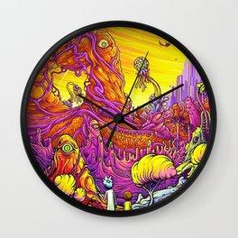 Rick and Mortys' World Wall Clock
