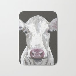 Cow Art, Cute Cow Painting Bath Mat