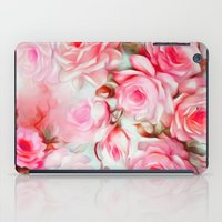 shabby chic iPad Cases featuring Shabby Chic Pink by Jacqueline Maldonado