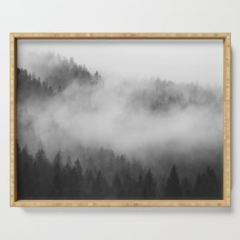 Foggy Forest Serving Tray
