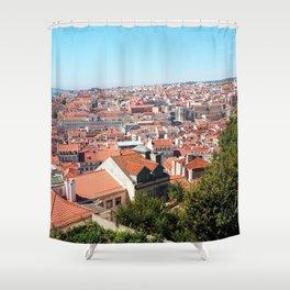 Lisbon, Portugal Analog 6x6 Kodak Ektar 100 (RR 162) Shower Curtain