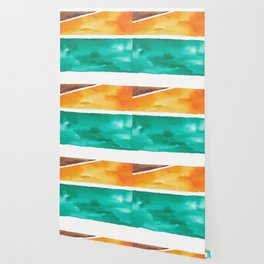 180811 Watercolor Block Swatches 7| Colorful Abstract |Geometrical Art Wallpaper