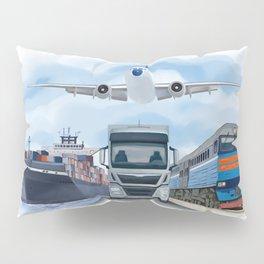 Cargo Transportation Vehicles Pillow Sham