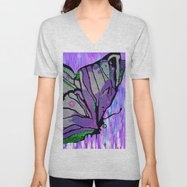 BUTTERFLY MOSAIC PURPLE DREAM Unisex V-Neck