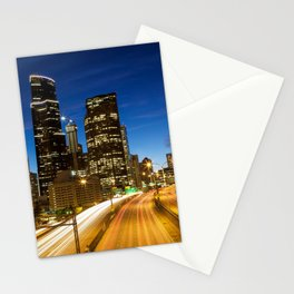 Amazing Seattle Night Stationery Cards