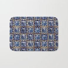 Blue Willow Tiles Bath Mat