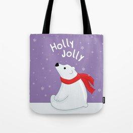 Polar Bear - Holly Jolly Tote Bag