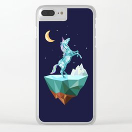 unicorn in the universe Clear iPhone Case