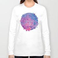 pixel Long Sleeve T-shirts featuring Pixel by Marta Olga Klara