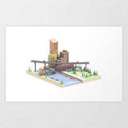 River Town Art Print