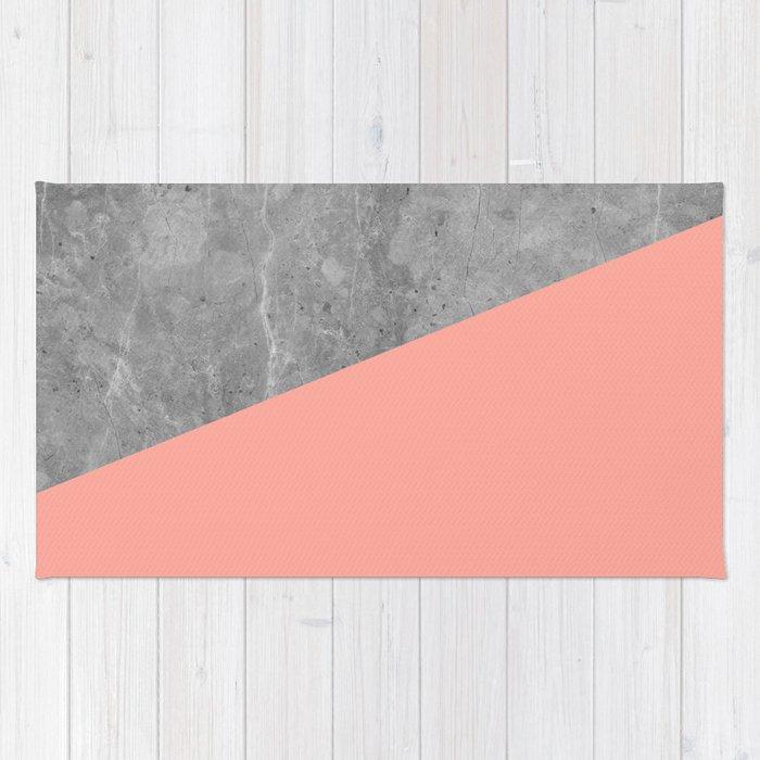 Simply Concrete Dogwood Pink Rug