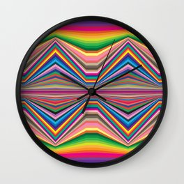 Colorful optic work Wall Clock