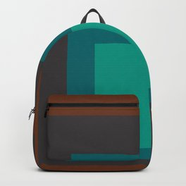 Block Colors - Browns and Teals Backpack