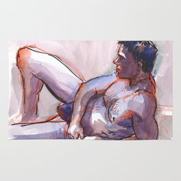 MICHAEL, Semi-Nude Male by Frank-Joseph Rug