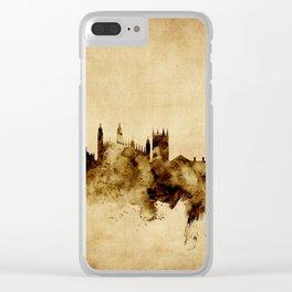 Cambridge England Skyline Clear iPhone Case