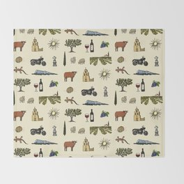 South of France pattern Throw Blanket