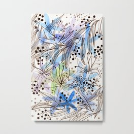 Many flowers and pale shades Metal Print