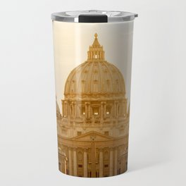 St. Peter's Basilica at sunset. Travel Mug