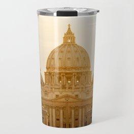 St. Peter's Basilica at sunset. Travel Mug