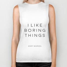 Quotes Poster I like Boring Things Office Wall Art Office Desk Funny Poster Biker Tank
