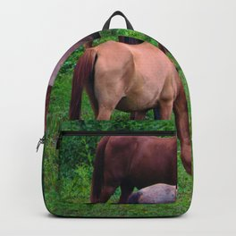 Grazing Horses Backpack