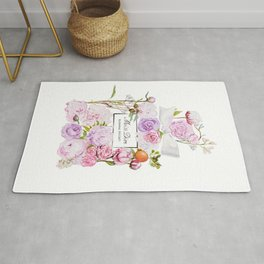 Parfum Perfume Fashion Floral Flowers Blooming Bouquet Rug