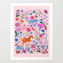 Magic Meadow Unicorn Art Print