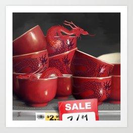 Teacup Dragons, At Discount Art Print