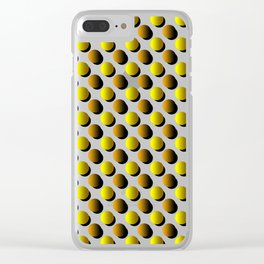 Polka Dot Orange and Brown Circles Clear iPhone Case