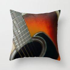 Guitar - Acoustic close up Throw Pillow
