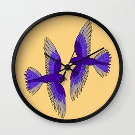 Purple Martins Wall Clock