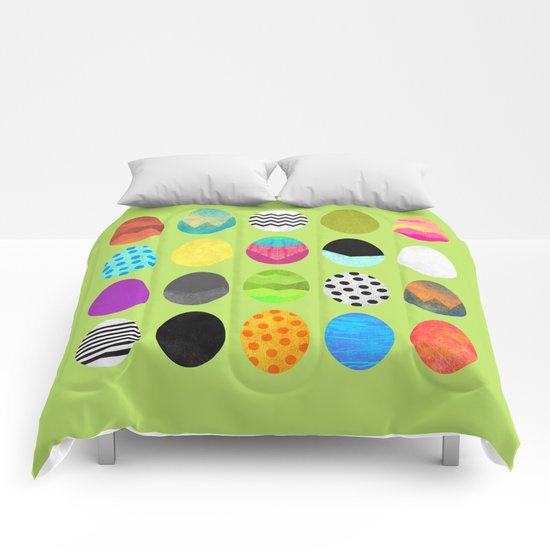 Easter eggs / Green Comforters