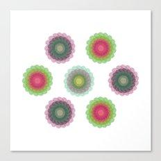 transparent floral patterns 1 Canvas Print
