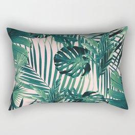 Tropical Jungle Leaves Siesta #2 #tropical #decor #art #society6 Rectangular Pillow