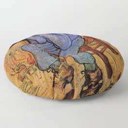At Eternity's Gate by Vincent van Gogh Floor Pillow