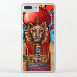 Memphite Triad by Nefertara Clear iPhone Case