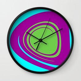 Aqua Purple Green Wall Clock