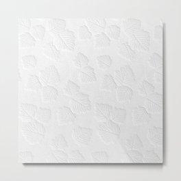 White Metal Print