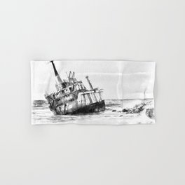 shipwreck aqrebw Hand & Bath Towel
