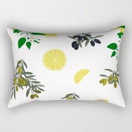 Lemons and olives Rectangular Pillow