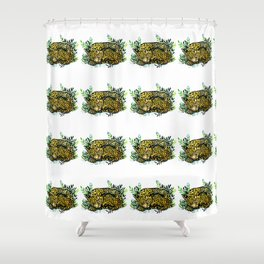 Snow panther of china Shower Curtain