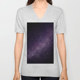 Puple Galaxy Unisex V-Neck