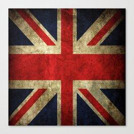 GRUNGY BRITISH UNION JACK  DESIGN ART Canvas Print