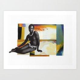 Woman In Color Art Print